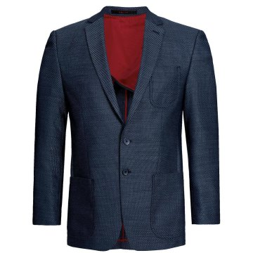 Größe 62 Greiff Corporate Wear Casual Herren Blazer Sakko Regular Fit Blau Strukturiert Modell 1133 2735