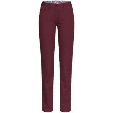 Größe 52 Greiff Corporate Wear Casual Damen Chinohose Regular Fit Burgund Rot Modell 1376 2710