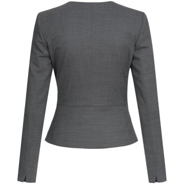 Größe 36 Greiff Corporate Wear Modern with 37.5 Damen Blazer Slim Fit Schwarz PINPOINT Modell 1427