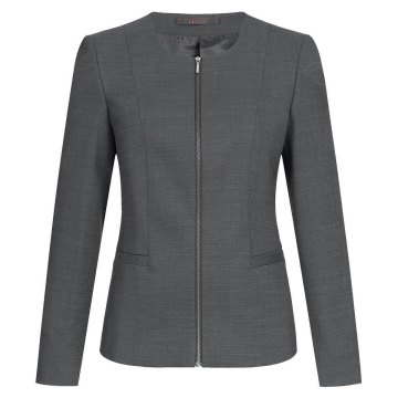 Größe 46 Greiff Corporate Wear Modern with 37.5 Damen Blazer Regular Fit Schwarz PINPOINT Modell 1429