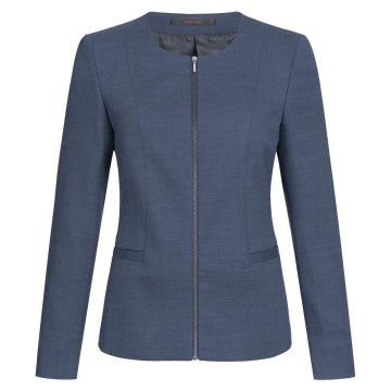 Größe 40 Greiff Corporate Wear Modern with 37.5 Damen Blazer Regular Fit Marine Blau PINPOINT Modell 1429