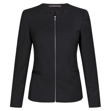 Größe 42 Greiff Corporate Wear Modern with 37.5 Damen Blazer Regular Fit Schwarz Modell 1429 2820