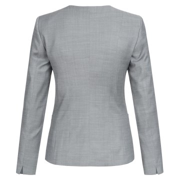 Größe 32 Greiff Corporate Wear Modern with 37.5 Damen Blazer Regular Fit Hellgrau Modell 1429 2820