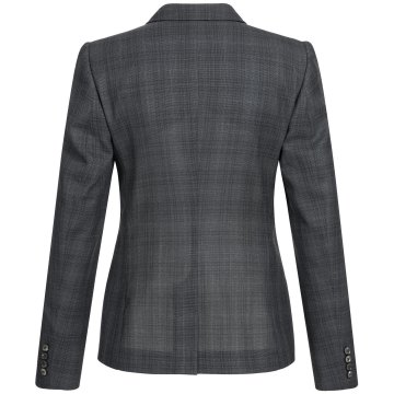 Größe 40 Greiff Corporate Wear Casual Damen Blazer Regular Fit Schwarz Kariert Modell 1433 2730