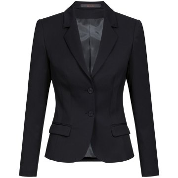 Größe 36 Greiff Corporate Wear Basic Damen Blazer Slim Fit Schwarz Modell 1434 7000