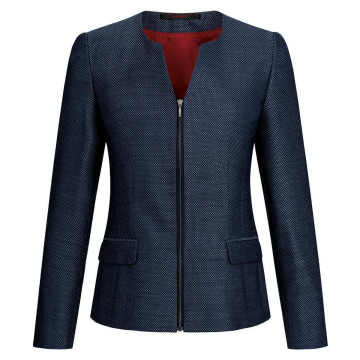 Größe 52 Greiff Corporate Wear Casual Damen Blazer Regular Fit Blau Strukturiert Modell 1439 2735
