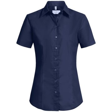 Größe 34  Greiff Corporate Wear Basic Damen Bluse Halbarm Regular Fit Marine Blau Modell 6517