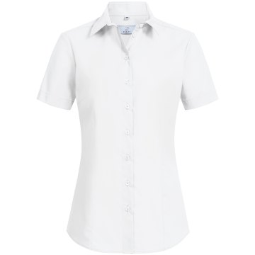 Größe 38 Greiff Corporate Wear Basic Damen Bluse Kurzarm Regular Fit Weiss Modell 6529 1130