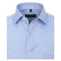 Casamoda Hemd Hellblau Kurzarm Popeline uninah Modern Fit leicht tailliert geschnitten Kentkragen 100% Baumwolle Bügelleicht