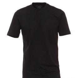 Casamoda T-Shirt Schwarz Kurzarm Normal Geschnitten...