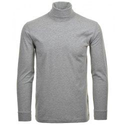Ragman Herren Shirt Rollkragen grau-melange Modell 40170