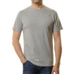 Ragman Herren T-Shirt Rundhals grau-melange Modell 40181