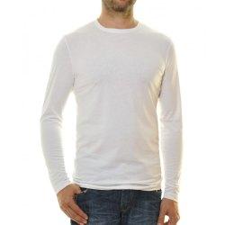 Ragman Herren Shirt langarm Rundhals Body Fit weiß...