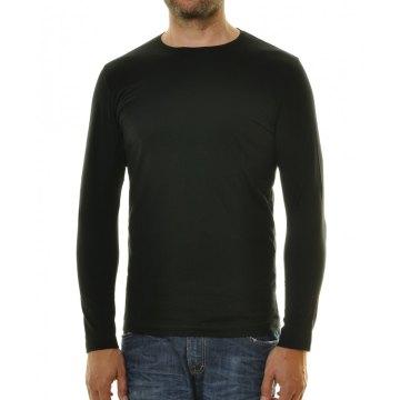Ragman Herren Shirt langarm Rundhals Body Fit schwarz Modell 482180