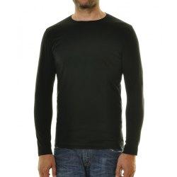 Ragman Herren Shirt langarm Rundhals Body Fit schwarz...