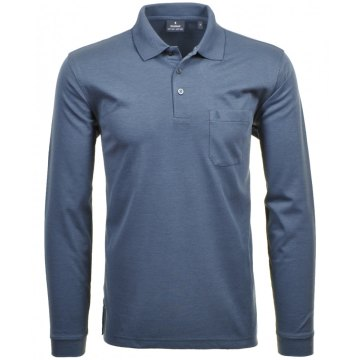 Ragman Herren Poloshirt Piqué ohne Logo schwarz CO542091