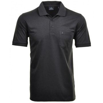 Ragman Herren Poloshirt Softknit Kurzarm anthrazit 540391