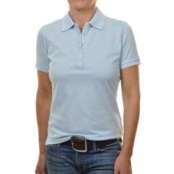 Ragwomen Poloshirt Piqué hellblau CO550091