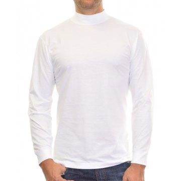 Größe L Ragman Herren Stehkragenshirt langarm weiß Modell 400160