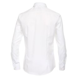 Größe 42 Venti Hemd Weiss Uni 69er Extralanger Arm Slim Fit Tailliert Kentkragen 100% Baumwolle Bügelfrei