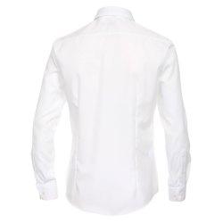 Größe 43 Venti Hemd Weiss Uni 72er Extralanger Arm Slim Fit Tailliert Kentkragen 100% Baumwolle Bügelfrei