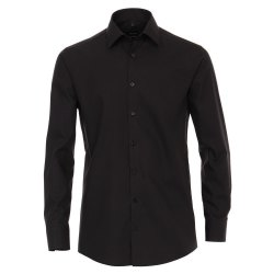 Größe 38 Venti Hemd Schwarz Uni Langarm Modern...