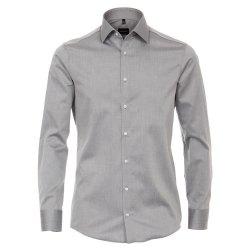 Größe 43 Venti Hemd Creme Uni Twill Langarm...
