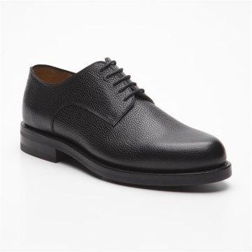 Prime Shoes Graz Schwarz Scotchgrain Black Rahmengenäht edler klassischer Schnürschuh feinstes Kalbsleder