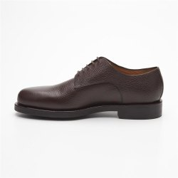 Prime Shoes Graz Braun Scotchgrain Testa di Moro Rahmengenäht edler klassischer Schnürschuh feinstes Kalbsleder