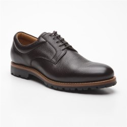 Prime Shoes Moskau Braun Buffalo Testa di Moro Plain...