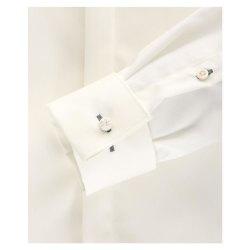 Venti Fest Hemd Creme Uni 72er Extralanger Arm Slim Fit Umschlagmanschette Kentkragen 100% Baumwolle Bügelfrei