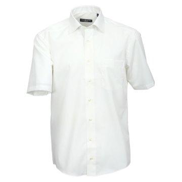 Größe 44 Casamoda Hemd Creme Uni Kurzarm Comfort Fit Normal Geschnitten Kentkragen 100% Baumwolle Bügelfrei