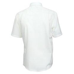 Größe 53 Casamoda Hemd Creme Uni Kurzarm Comfort Fit Normal Geschnitten Kentkragen 100% Baumwolle Bügelfrei