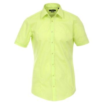 Größe 41 Venti Hemd Lindgrün Uni Kurzarm Body Stretch Extra Schmal Kentkragen 96% Feinste Baumwolle 4% Elasthan Bügelfrei