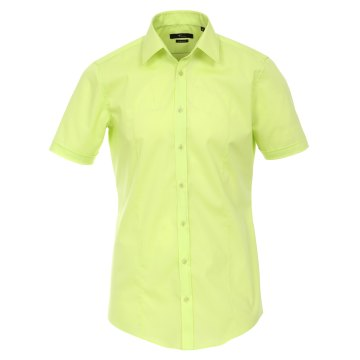 Größe 43 Venti Hemd Lindgrün Uni Kurzarm Body Stretch Extra Schmal Kentkragen 96% Feinste Baumwolle 4% Elasthan Bügelfrei