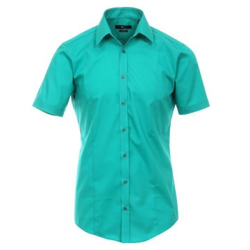 Größe 40 Venti Hemd Newgrün Uni Kurzarm Body Stretch Extra Schmal Kentkragen 96% Feinste Baumwolle 4% Elasthan Bügelfrei