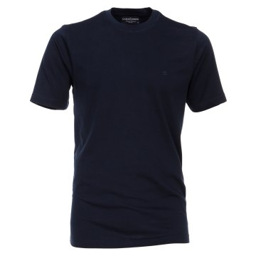 Größe 3XL Casamoda T-Shirt Dunkelblau Kurzarm Normal Geschnitten Rundhals Ausschnitt 100% Baumwolle