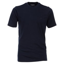 Größe 4XL Casamoda T-Shirt Dunkelblau Kurzarm Normal Geschnitten Rundhals Ausschnitt 100% Baumwolle