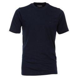 Größe L Casamoda T-Shirt Dunkelblau Kurzarm Normal Geschnitten Rundhals Ausschnitt 100% Baumwolle
