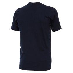 Größe M Casamoda T-Shirt Dunkelblau Kurzarm Normal Geschnitten Rundhals Ausschnitt 100% Baumwolle