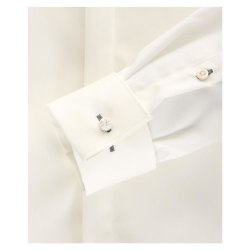 Größe 41 Venti Fest Hemd Creme Uni Langarm Slim Fit Umschlagmanschette Verdeckte Knopfleiste Kentkragen 100% Baumwolle Bügelfrei