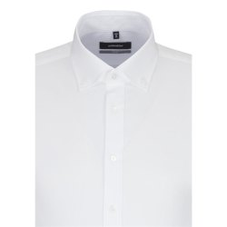 Größe 40 Seidensticker Schwarze Rose Hemd X-Slim Fit Weiss Oxford Kombimanschette Langarm sehr schmal geschnitten New Button Kragen 100% Baumwolle Bügelleicht