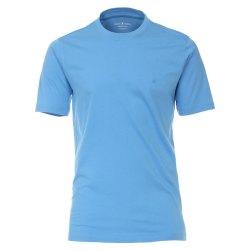 Casamoda T-Shirt Himmelblau Kurzarm Normal Geschnitten...