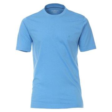Größe 3XL Casamoda T-Shirt Himmelblau Kurzarm Normal Geschnitten Rundhals Ausschnitt 100% Baumwolle