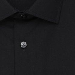 Größe 40 Seidensticker Schwarze Rose Hemd Slim Fit Schwarz Popeline Stretch Halbarm extra schmal geschnitten Kentkragen 100% Baumwolle Bügelfrei