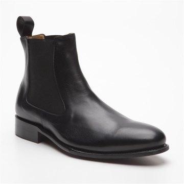 Prime Shoes Diego Rahmengenäht Schwarz Stiefelette aus feinstem Kalbsleder