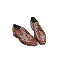 Prime Shoes Linz Rahmengenäht Hellbraun Box Calf Cuoio Budapester Schnürschuh aus feinstem Kalbsleder