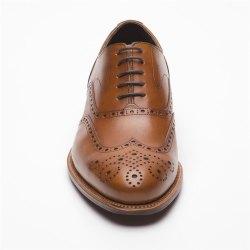 Prime Shoes Oxford Full Brogue Rahmengenäht Crust Cognac Schnürschuh aus feinstem Kalbsleder