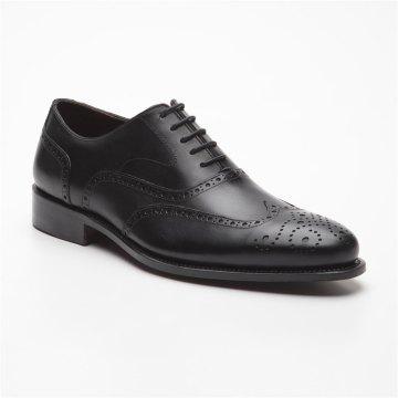 Prime Shoes Oxford Full Brogue Rahmengenäht Schwarz Box Calf Black Schnürschuh aus feinstem Kalbsleder