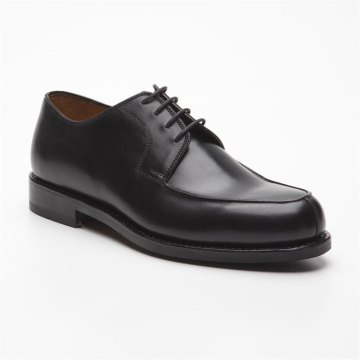 Prime Shoes Prag Rahmengenäht Schwarz Box Calf Black Schnürschuh aus feinstem Kalbsleder